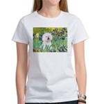 Irises and Bichon Women's T-Shirt