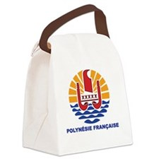 French Polynesia - Polynesie Fran Canvas Lunch Bag