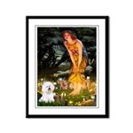Fairies & Bichon Framed Panel Print