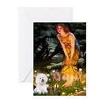 Fairies & Bichon Greeting Cards (Pk of 10)