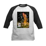 Fairies & Bichon Kids Baseball Jersey