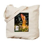 Fairies & Bichon Tote Bag