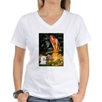 Fairies & Bichon Women's V-Neck T-Shirt