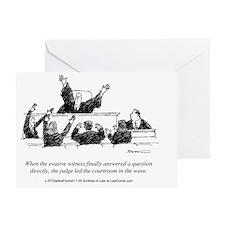 Judicial Wave Greeting Card