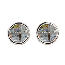 Ground Zero Blues Club Old Doors Graffit Cufflinks