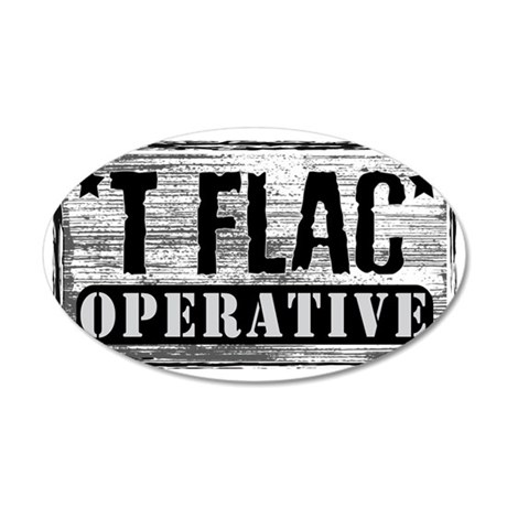 T-FLAC Operative 35x21 Oval Wall Decal