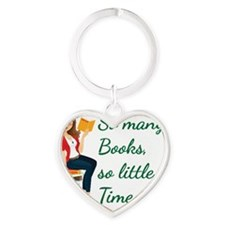 So many Books, so little time Heart Keychain