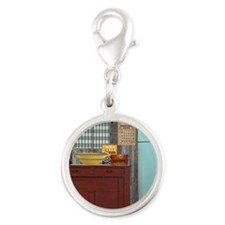Country Kitchen 1 Silver Round Charm