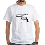 Guns Don't Kill People White T-shirt