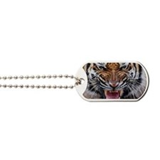 Big Cat Tiger Roar Dog Tags