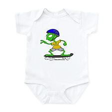 Alien Skateboarding Infant Bodysuit