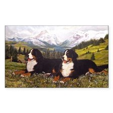 Bernese Mountain Dog Wildflowe Decal