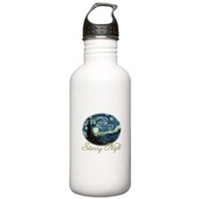 Starry Night by Vincent van Gogh. Water Bottle