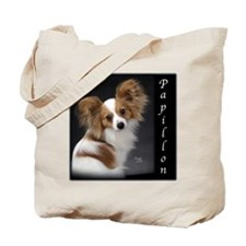 Papillon Puppy Tote Bag