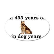 65 birthday dog years german Wall Decal
