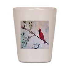 Sweet Red Cardinal Shot Glass