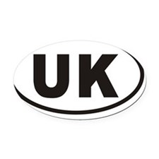 UK United Kingdom Euro Oval Sticke Oval Car Magnet