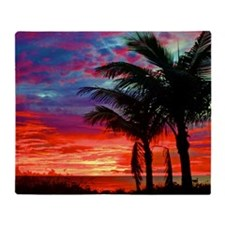Deep Purple Captiva Sunset Sky Throw Blanket