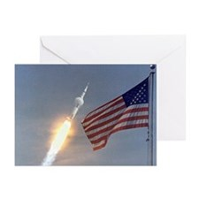 Apollo 11 Launch and Flag Christmas Cards