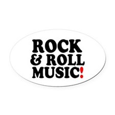 ROCK AND ROLL MUSIC! Z Oval Car Magnet