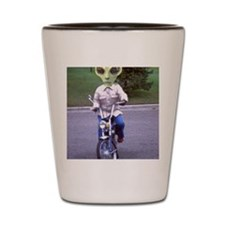 Alien On A Motor Bike Shot Glass