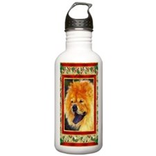 Chow Chow Dog Christma Water Bottle