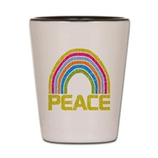 Peace Rainbow Shot Glass