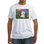 Lilies 4 / Bichon 1 Fitted T-Shirt