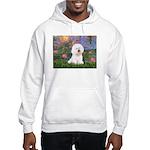Lilies 4 / Bichon 1 Hooded Sweatshirt