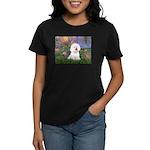 Lilies 4 / Bichon 1 Women's Dark T-Shirt
