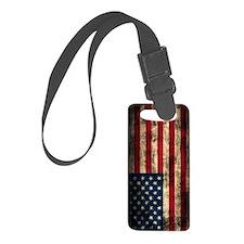 American Flag Grunge Luggage Tag