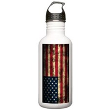 American Flag Grunge Water Bottle