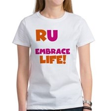 Run and Embrace Life Orange Pink Tee