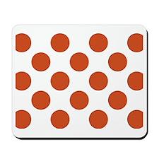 Big Polka Dots Placemat W Orange Mousepad