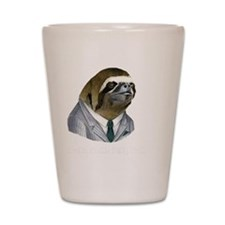 Dolla Dolla Bill, Yall sloth with white Shot Glass