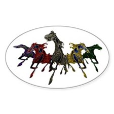 Horses of War Oval Decal