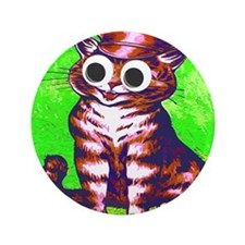 "Hip Cat 3.5"" Button"