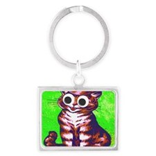 Hip Cat Landscape Keychain