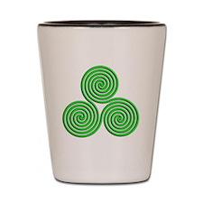 triskele Neon Green Shot Glass