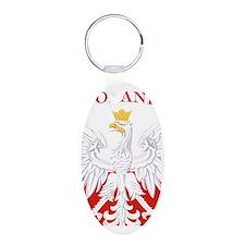 Poland Eagle Flag Aluminum Oval Keychain