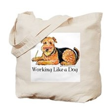 Working Airedale Tote Bag