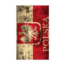 Polska Polish Flag Coat of Arm Stickers