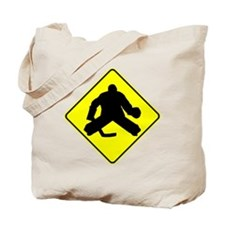 Hockey Goalie Crossing Tote Bag