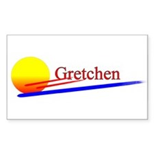 Gretchen Rectangle Decal