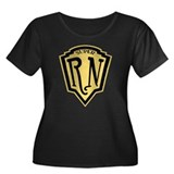 Super RN Women's Plus Size Scoop Neck Dark T-Shirt