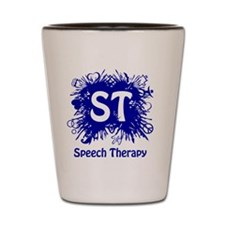 Speech Splash - blue Shot Glass