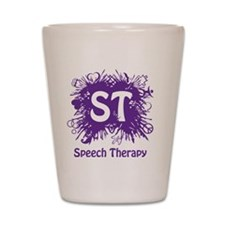 Speech Splash - purple Shot Glass