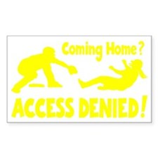 yellow Access Denied, retro on Decal