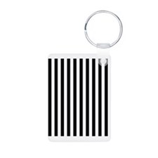 Black and White Stripes Keychains