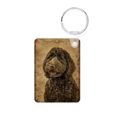 Labradoodle Aluminum Photo Keychain